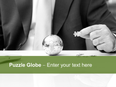 Puzzle Globe _https://www.presentationload.com/puzzle-globe-1.html
