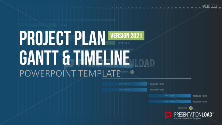 PowerPoint Timeline Template For Projects - Project plan and timeline template