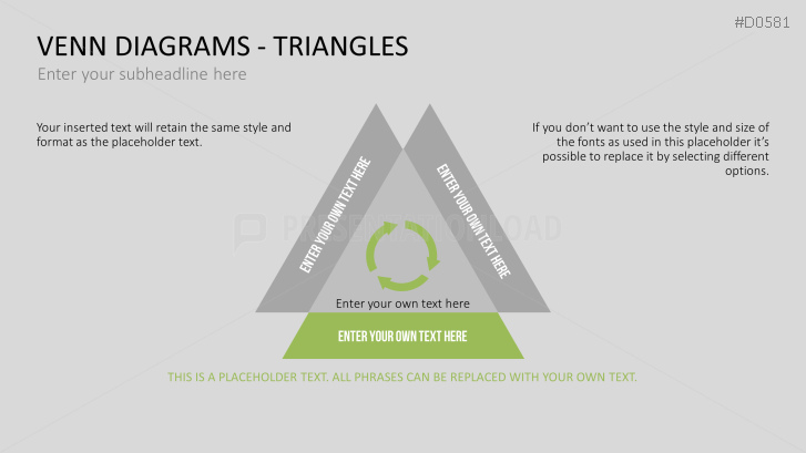 venn diagrams triangles powerpoint template