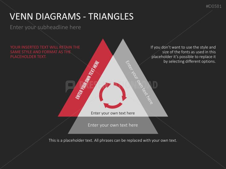 Venn Diagrams Triangles Powerpoint Template