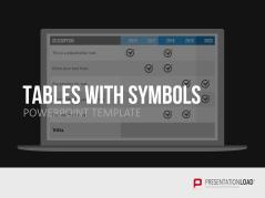 Tableaux avec symboles _https://www.presentationload.fr/tableaux-avec-symboles-1.html