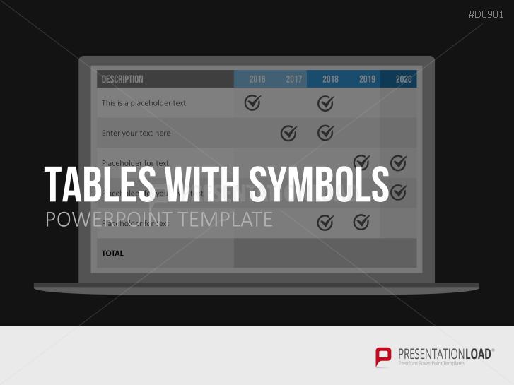 Tabellen mit Symbolen _https://www.presentationload.de/tabellen-mit-symbolen.html