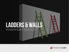 Muros y escaleras _https://www.presentationload.es/ladder-graphics-powerpoint-es.html