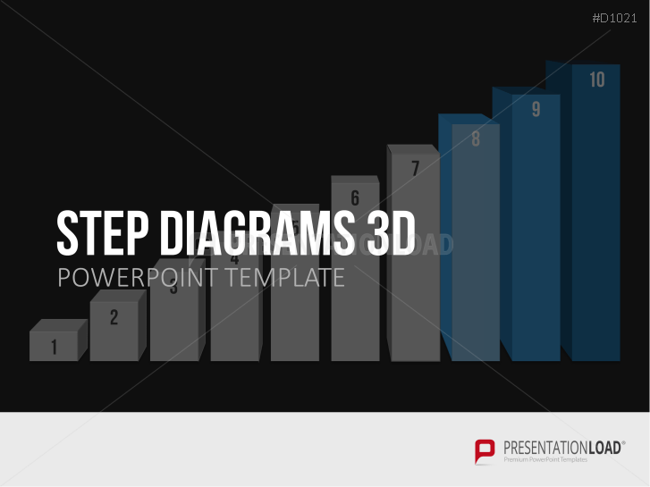 Step diagram 3D _https://www.presentationload.com/3d-step-diagrams.html