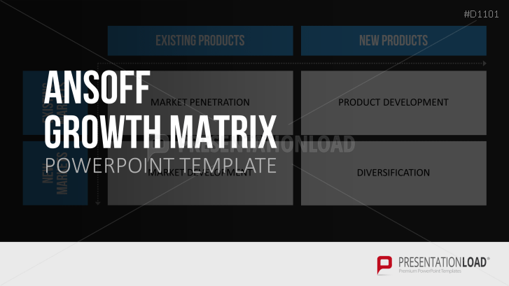 ansoff growth matrix powerpoint template, Powerpoint templates