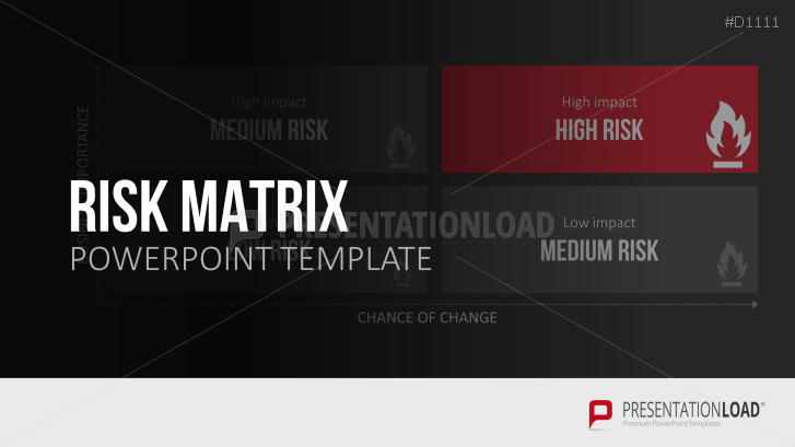 risk matrix powerpoint template, Powerpoint templates