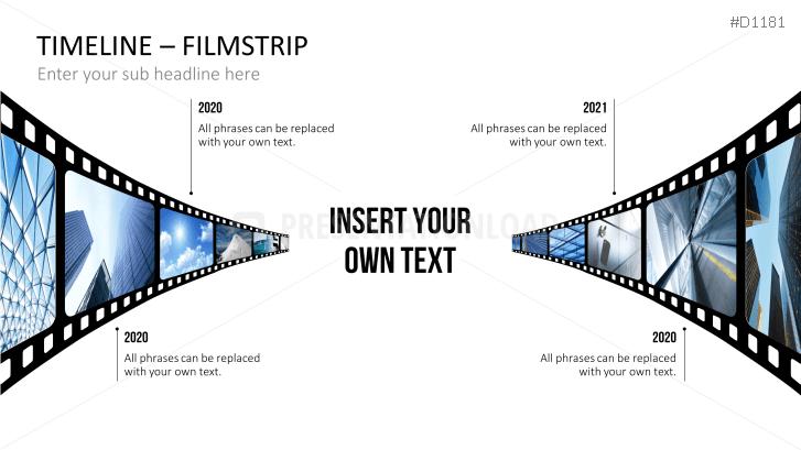 Zeitstrahl PowerPoint Vorlage mit Filmstreifen | PresentationLoad