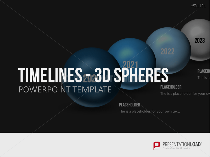 Timelines - 3D Spheres _https://www.presentationload.com/3d-timelines-spheres.html