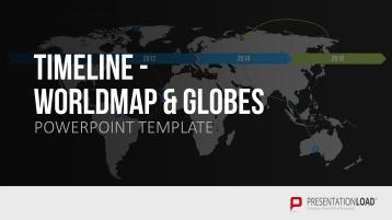 Timelines - Worldmap / Globes _https://www.presentationload.com/timelines-world-map-globes.html