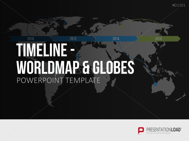 Timelines - Weltkarte / Globus _https://www.presentationload.de/zeitstrahl-weltkarte-globus.html