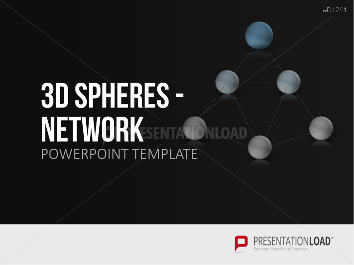 3D Spheres - Network _https://www.presentationload.com/3d-spheres-network.html