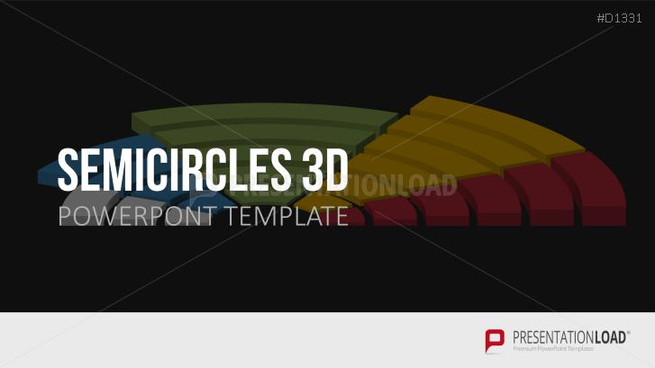 Demi-cercles 3D