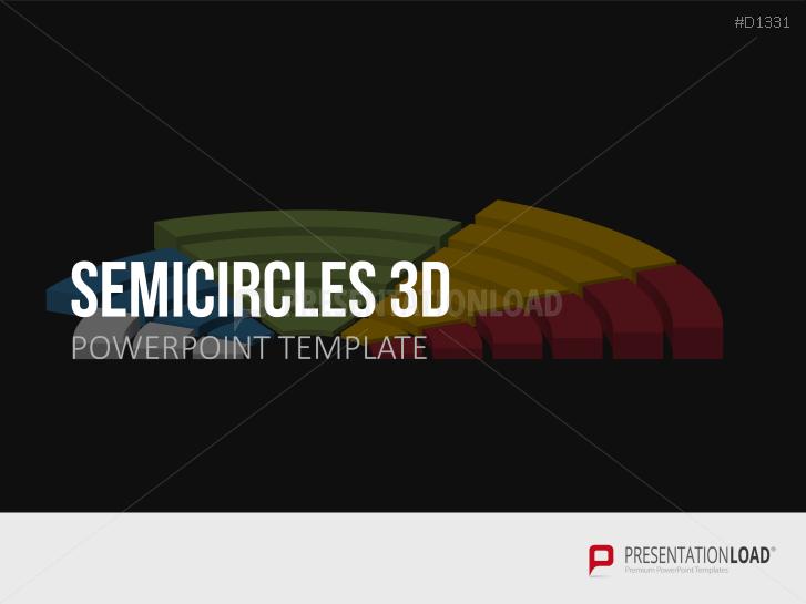Halbkreise 3D _https://www.presentationload.de/halbkreise-3d.html