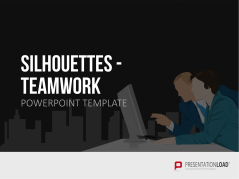 Silhouettes Teamwork _https://www.presentationload.com/outlines-teamwork.html