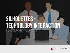 Silhouetten - Tech Interaktion _https://www.presentationload.de/silhouetten-tech-interaktion.html