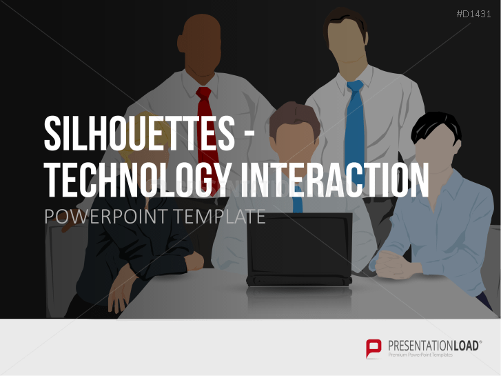 Silhouette - Interactions avec la technologie _https://www.presentationload.fr/silhouettes-interaction-technologique.html
