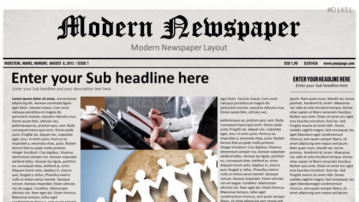 Presentationload Newspaper Layouts