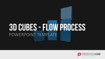 3D Würfel fließende Prozesse _https://www.presentationload.de/wuerfel-fliessende-prozesse-3d.html