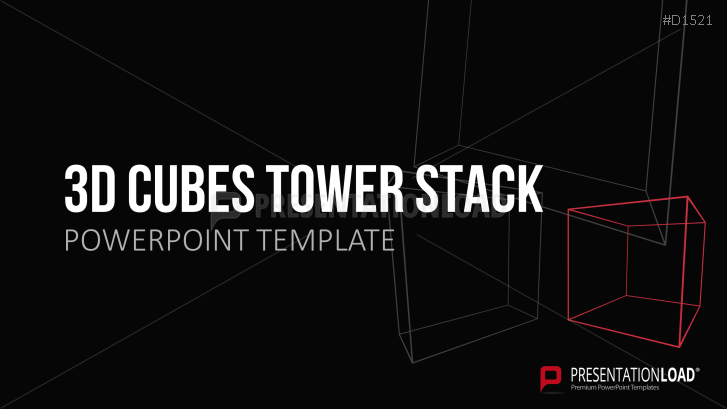 3D Cubes Tower Stack
