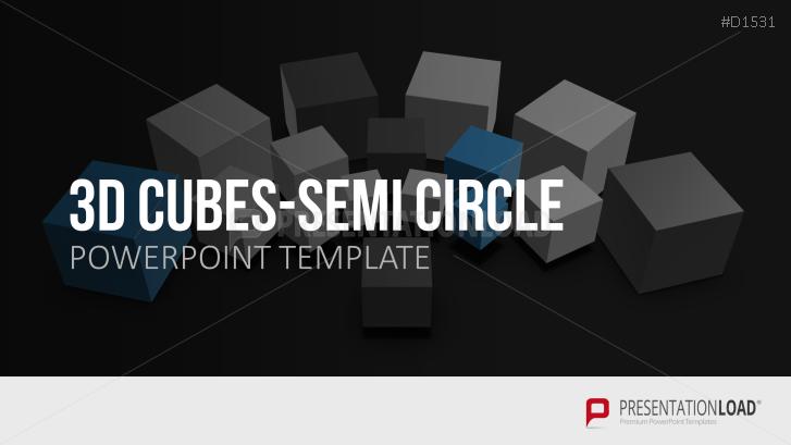 3D Cubes Semi-Circle