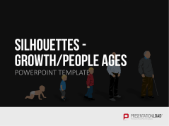 Silhouettes - Growth / People Ages _https://www.presentationload.com/outlines-growth-people-life-periods.html