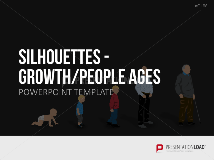 Silhouettes - Growth / People Ages _http://www.presentationload.com/outlines-growth-people-life-periods.html
