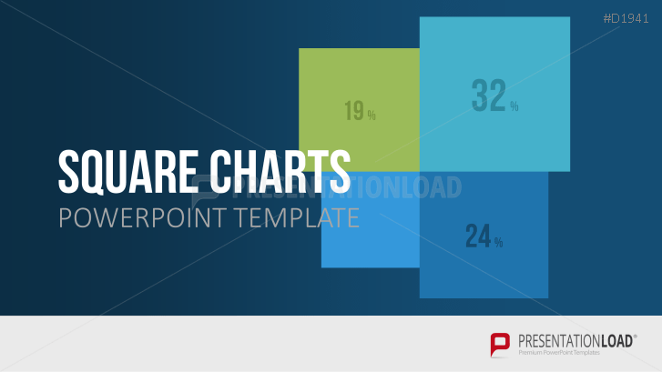 Square Charts Powerpoint Template