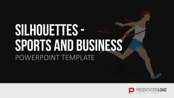 Silhouetten-Sport und Business _https://www.presentationload.de/silhouetten-sport-business.html