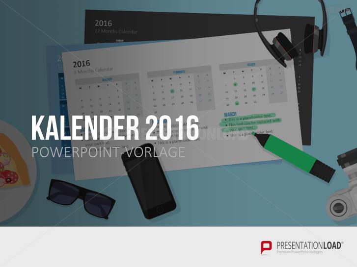 Kalender 2016 _http://www.presentationload.de/kalender-2016.html