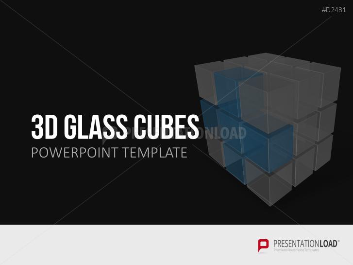 Cubos tridimensionales de cristal _https://www.presentationload.es/cubos-3d-de-vidrio-1.html