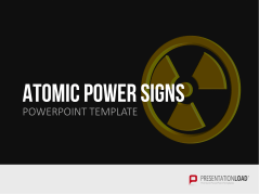 Energía nuclear- Señales de advertencia _https://www.presentationload.es/simbolos-atomicos-warning-signs.html