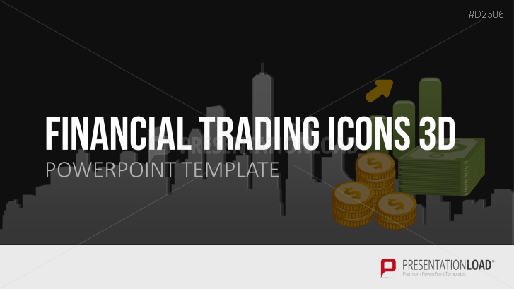 Financial Trading Icons 3D