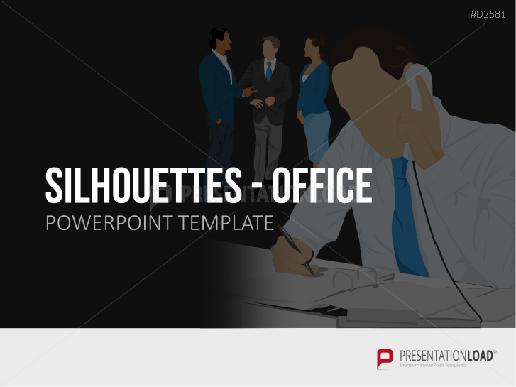Silhouettes - Office _http://www.presentationload.com/outlines-office.html