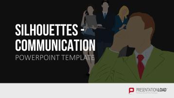 Silhouetten - Kommunikation _https://www.presentationload.de/silhouetten-kommunikation.html