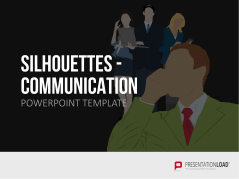 Silhouettes - Communication _http://www.presentationload.com/outlines-communication.html