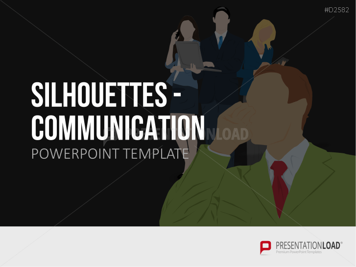 Silhouettes - Communication _https://www.presentationload.com/outlines-communication.html