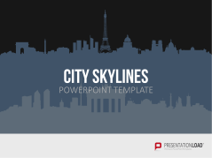 Paisajes urbanos para PowerPoint (gráfico vectorial) _https://www.presentationload.es/cityscapes-skylines-for-powerpoint-vector-graphics.html