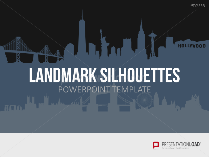 Silhouettes emblématiques de pays pour PowerPoint _https://www.presentationload.fr/international-landmark-templates-for-powerpoint-1.html
