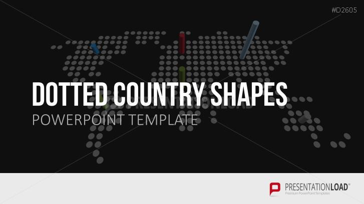 Dotted Country Shapes (Länder als Punktgrafik)