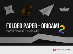 Folded Paper - Origami 2 _https://www.presentationload.de/folded-paper-origami-2.html