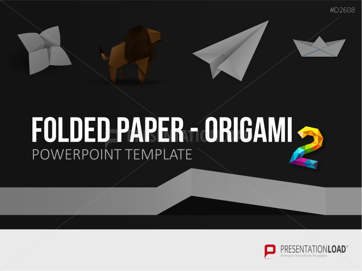 Folded Paper - Origami 2 _http://www.presentationload.de/folded-paper-origami-2.html