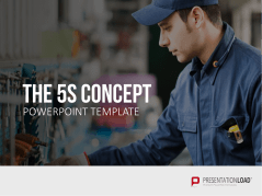 Principe des 5 S _https://www.presentationload.fr/5s-concept-powerpoint-template-fr.html