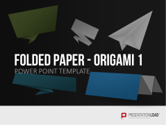 Folded Paper - Origami 1 _http://www.presentationload.de/gefaltetes-papier-origami.html