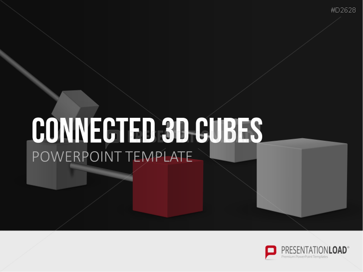 Cubes 3D reliés _https://www.presentationload.fr/connected-3d-cubes-1.html
