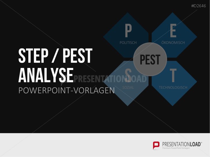 PEST / PESTEL / STEP Analyse _https://www.presentationload.de/powerpoint-pest-pestle-analyse.html