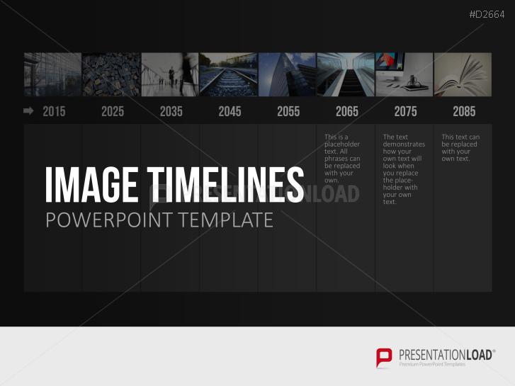 Zeitstrahl mit Bildern (Timelines) _http://www.presentationload.de/powerpoint-bilder-zeitstrahl.html