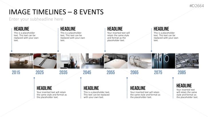 Zeitstrahl mit Bildern (Timelines)