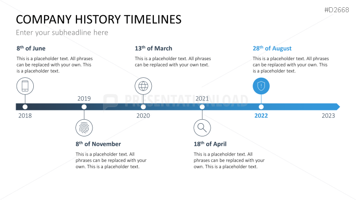 Powerpoint timeline template for company histories toneelgroepblik Gallery
