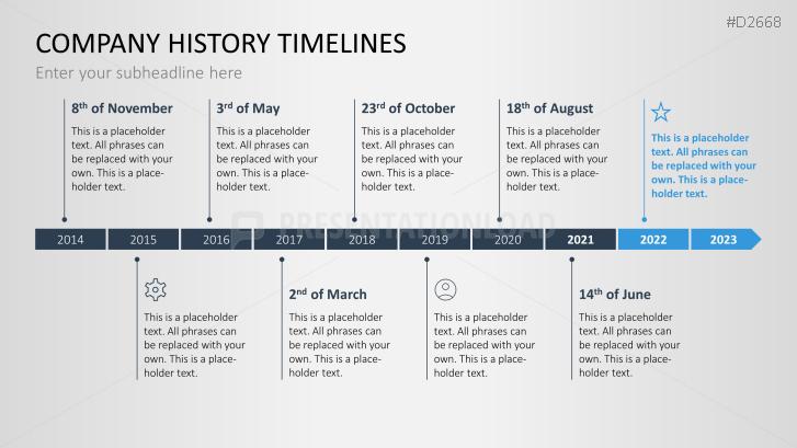 Powerpoint timeline template for company histories toneelgroepblik Choice Image