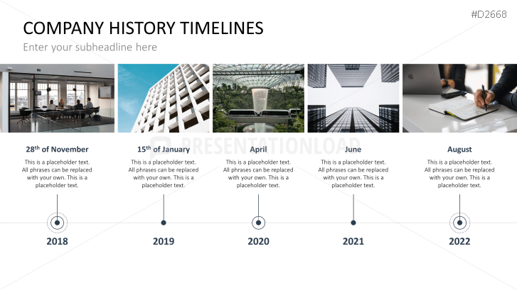 Powerpoint timeline template for company histories toneelgroepblik Choice Image